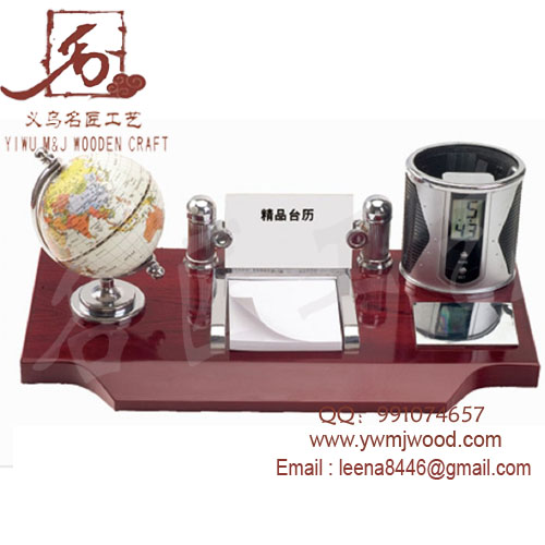 BUSINESS GIFT/ WOODEN STAND /GLOB GIFT MJ-1036